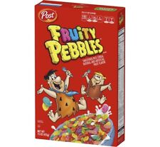 NEW POST FRUITY PEBBLES GLUTEN-FREE BREAKFAST CEREAL FRUIT FLAVORED Bambam 15oz