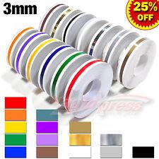 "3mm 1/8"" Pin Striping Stripe Tape Car Motorcycle Body Trim Decal Vinyl Stickers"