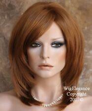 STUNNING Strawberry Blonde Medium Length teased top Salon cut wig WBKE 27
