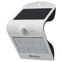 LED Solar Sensor Light White 120 Degree Induction Angle Night Soft/ Bright Mode