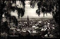 FREIBURG Breisgau AK 50/60er Jahre alte Ansichtskarte Fernansicht durch Bäume