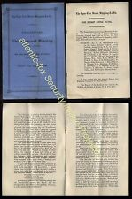 1906 TYNE TEES STEAM SHIPPING Co 3rd Annual Meeting Pamphlet 6 p.p.
