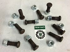 Bearmach Land Rover Serie 2/2a/3 DIFFERENZIALE Borchie & nylocks x10 br2242ny6060