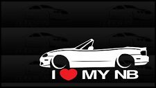 I Heart My NB Miata Sticker Love Mazda Slammed JDM Japan Drift Vert