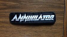 ANNIHILATOR,SEW ON WHITE EMBROIDERED PATCH