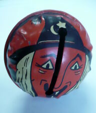 VINTAGE HALLOWEEN WITCH FACE RATTLE, NOISE MAKER, KIRCHOF, NEWARK, NJ, MADE USA