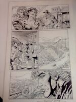 Original Comic Art. Time Walker # 5 Page 20 Signed Gonzales Mayo
