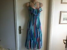 Size 10R Colourful Per Una Dress with Knotted Metal Ring Straps BNWT RRP £45.00