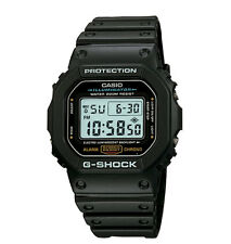 Casio DW5600E-1V, G-Shock Chronograph Watch, Resin Band, Alarm, Chronograph
