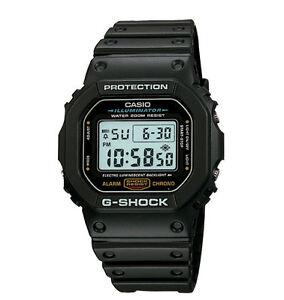 Casio DW5600E-1V, G-Shock Chronograph Watch, Resin Band, Alarm, Chronograph