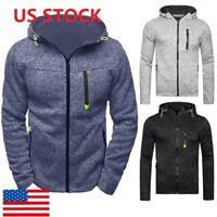 Men Fall Pullover Casual Hoodie Zip Jackets Sports Sweatshirt Zipper Coat TOPS