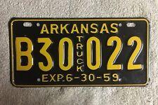 Good Solid Original 1959 Arkansas License Plate