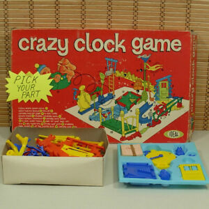 Pick Your Part 1964 Vintage Ideal Crazy Clock Board Game Replacements G683