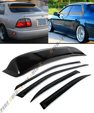 FOR 94-97 HONDA ACCORD 4DR SEDAN SMOKE REAR ROOF WINDOW + SIDE DOOR VISOR COMBO