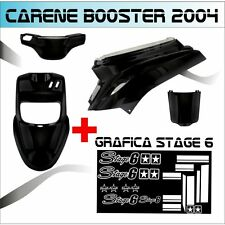 BODY KIT BLACK MBK BOOSTER BW'S FROM 2004 + STICKER STAGE 6 ADESIVI BIANCO