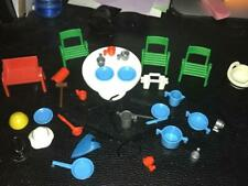 Vintage Playmobil / Geobra Accessories Lot (1974) - Table, Chairs, Kitchenware
