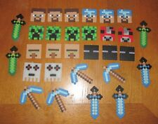 MINECRAFT Inspired Birthday Party Favors LOT of 30 Necklaces Creeper Sword Cake