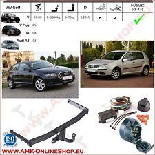 Gancio traino Audi A3 / VW Golf VI / V Plus 03- / Golf V 03-08 +elettrico 7-poli