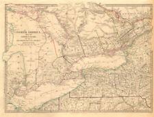 Los Grandes Lagos. Canadá distritos Superior < 1849 Lake Huron Erie Ontario. Sduk 1846 Mapa