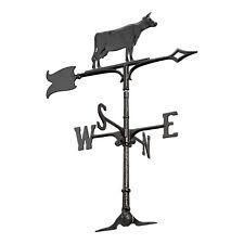 """30"""" Cow Accent Weathervane - Black"""