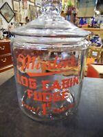 Vintage Minter's Log Cabin Fudge Jar