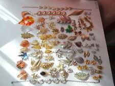 Vtg Jewelry Lot Signed Monet Lisner Trifari GF BCK 81pc Brooch Earring Bracelet
