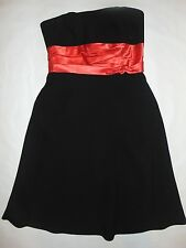 Liz Claiborne Womens Black Pink Red PROM Strapless 8 Bridesmaid Dress Cocktail *