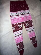 Kuschel warme Strick Kinder leggings Norweger  Muster Gr. 7-9 Jahre