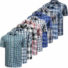 Mens Ex-Store Short Sleeve Check Shirt Casual Check Holiday Summer Work Shirt