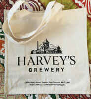 HARVEYS LEWES SUSSEX BREWERY BEER CANVAS TOTE SHOPPING BAG FOR LIFE HEAVY DUTY