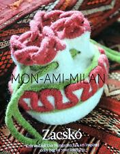 KNITTING PATTERN To Make a FELTED DRAWSTRING DOLLY BAG Hungarian Folk Art Style