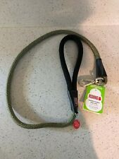 (New) Kong Comfort+ Reflective Padded Handle Rope Leash, 4 Ft  Red, Gray, Green