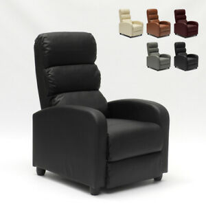Fauteuil relax inclinable avec repose-pieds en similcuir ALIce