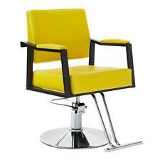 Salon Barber Chair Hydraulic Hair Styling Chair Haircut Beauty Equipment Yellow