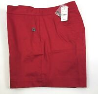 NWT BROOKS BROTHERS Size 12 Women's Flat Front Red CLASSIC FIT Casual Short
