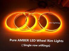 "JHB 15.5""Adjustable Single row Pure AMBER LED Wheel Rim Lightsx4 Switch Ctrl Set"