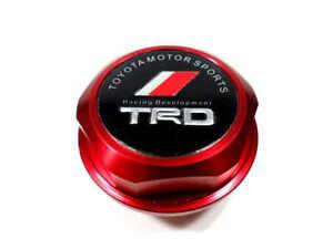 Red TRD Racing Engine Oil Filler Cap Oil Tank Cover Aluminum For Toyota Cars