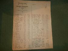 facture épicerie fine georges Courtault VILLERUPT Meurthe-et- moselle 1940