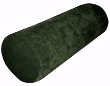 ma20g Deep Green Sofa Chenille Velvet Bolster CASE Neck Roll Cushion COVER Size