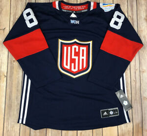 Adidas Patrick Kane Navy Blue Red 2016 World Cup of Hockey Youth Size L/XL