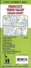 City Street Map of Prescott, Verde Valley, Yavapai County, Arizona, by GMJ Maps