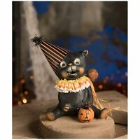 Bethany Lowe Jinx Black Cat Halloween Party Retro Vntg Home Decoration Figurine