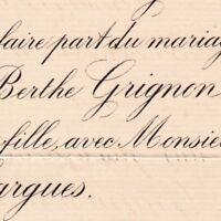 Berthe Grignon De La Gêterie ou Gétrie 1888 Edouard De Hargues