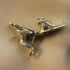 9ct gold new wedding couple in boot charm