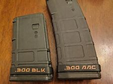 12-Pack 300 AAC BLK 300BLK Blackout Magazine ID Identification Band Black Brown