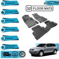 3D Molded Interior Car Floor Mat for Volkswagen Touareg 2004-2015(Black)