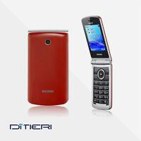 TELEFONO CELLULARE BRONDI MAGNUM 3 DUAL SIM FLIP ROSSO - GARANZIA ITALIA 24 MESI