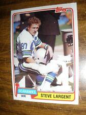 1981 Topps #271 Steve Largent Seattle Seahawks  NrMt