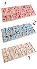 2D Holzbuchstabe Buchstabe Buchstaben Türschild Holz Kinderzimmer weiß/rosa/blau