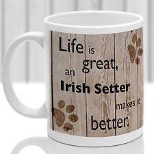 Irish Setter chien mug Setter Irlandais Chien Cadeau, Idéal Cadeau Pour Dog Amant